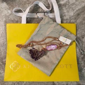 NWT KS Eva Rose Gold Pendant Lilac Mother of Pearl